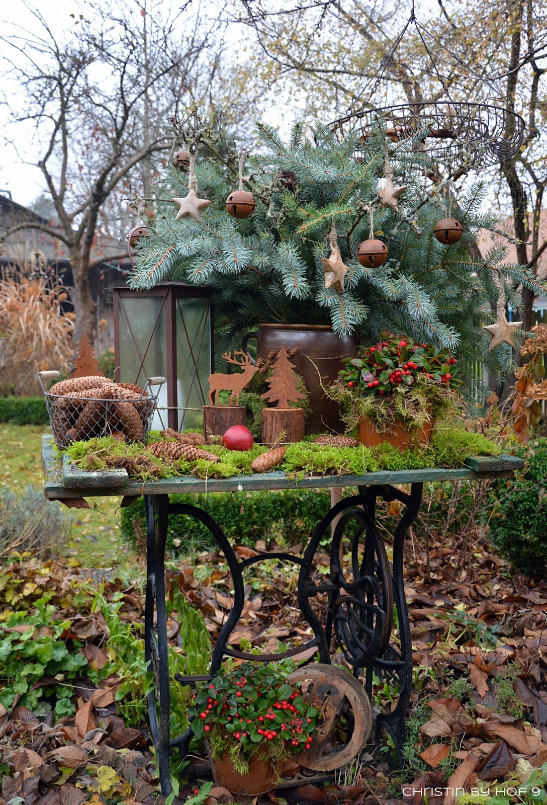 Hof 9 adventsstimmung im garten ein quasten diy for Winter gartendeko