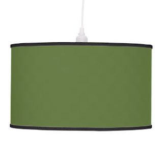 Olive green pendant lamp