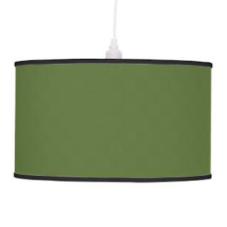Olive green pendant lamp