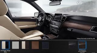 Nội thất Mercedes GLE 400 4MATIC Exclusive 2017 màu Vàng Ginger/Nâu Espresso 215