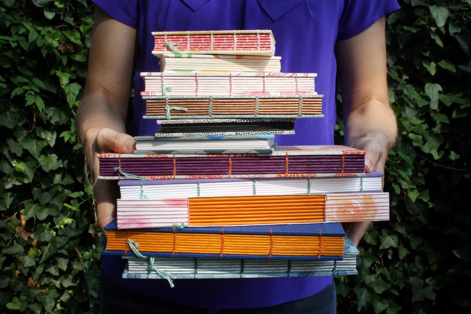 Handmade books by Katie Gonzalez of linenlaid&felt in Nashville