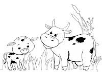 דפי צביעה של פרות