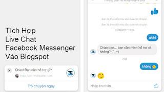 Tích Hợp Live Chat Facebook Messenger Vào Blogspot