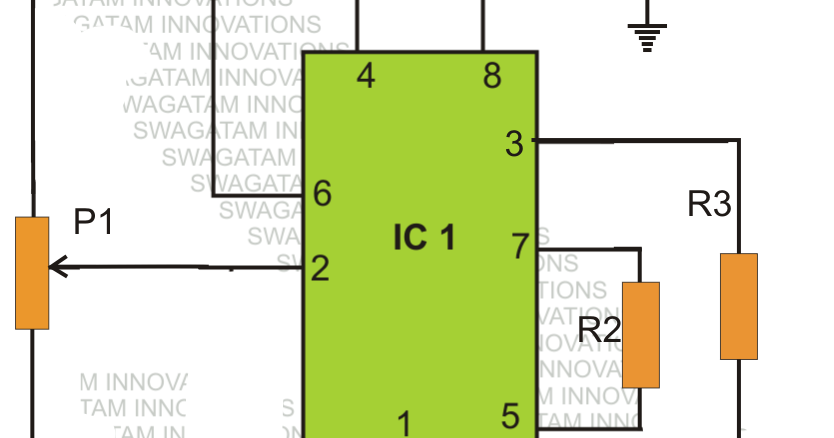 Simple Low Battery Indicator Circuit Using IC 555