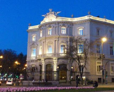 Palacio de Linares, home of Case de America in Madrid, Spain is said to be haunted by the former Marqués de Linares and his wife