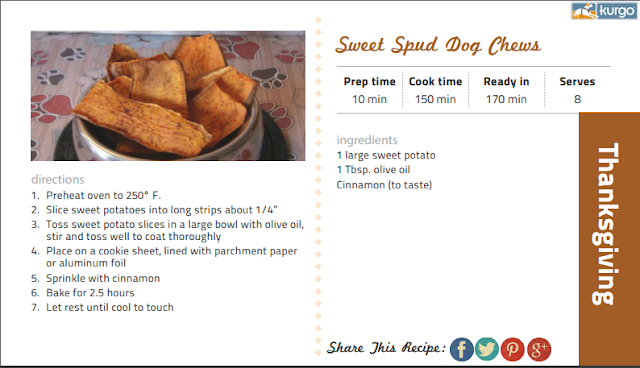 Sweet Spud Dog Chews recipe