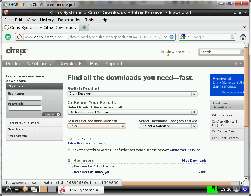 Raspberry Pi Thin Client project: Raspberry Pi: Citrix Client