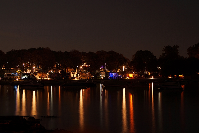 Croatian countryside Summer holiday night lights scene