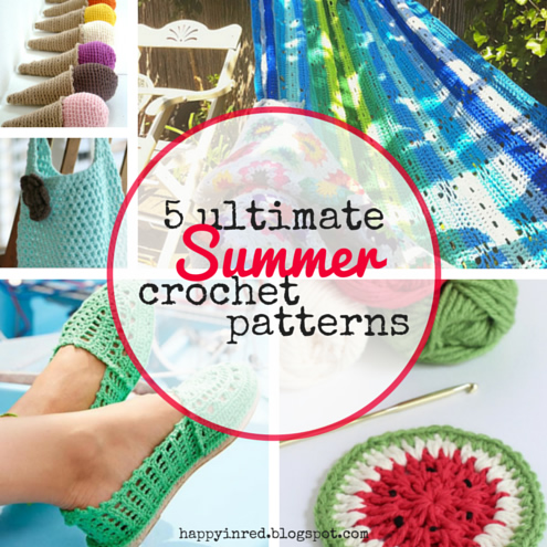 5 ultimate summer crochet patterns | Happy in Red