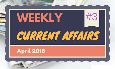 Weekly current Affairs April 2018