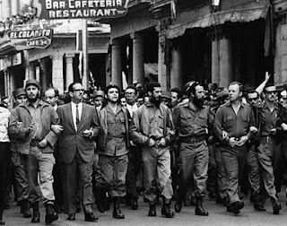 Entrada triunfal de los Revolucionarios en La Habana.