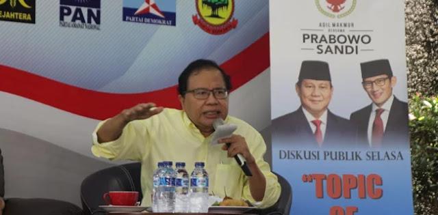 Rizal Ramli Ungkap SOP Pendukung Jokowi: Ngotot, Dikasih Data Sebut Hoax