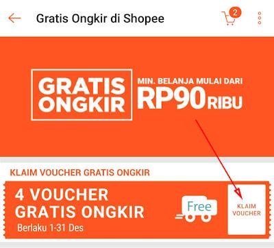 Cara Menggunakan Voucher Gratis Ongkir di Shopee 19