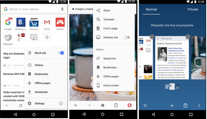 Opera browser - news & search best mobile web browsing app for Android