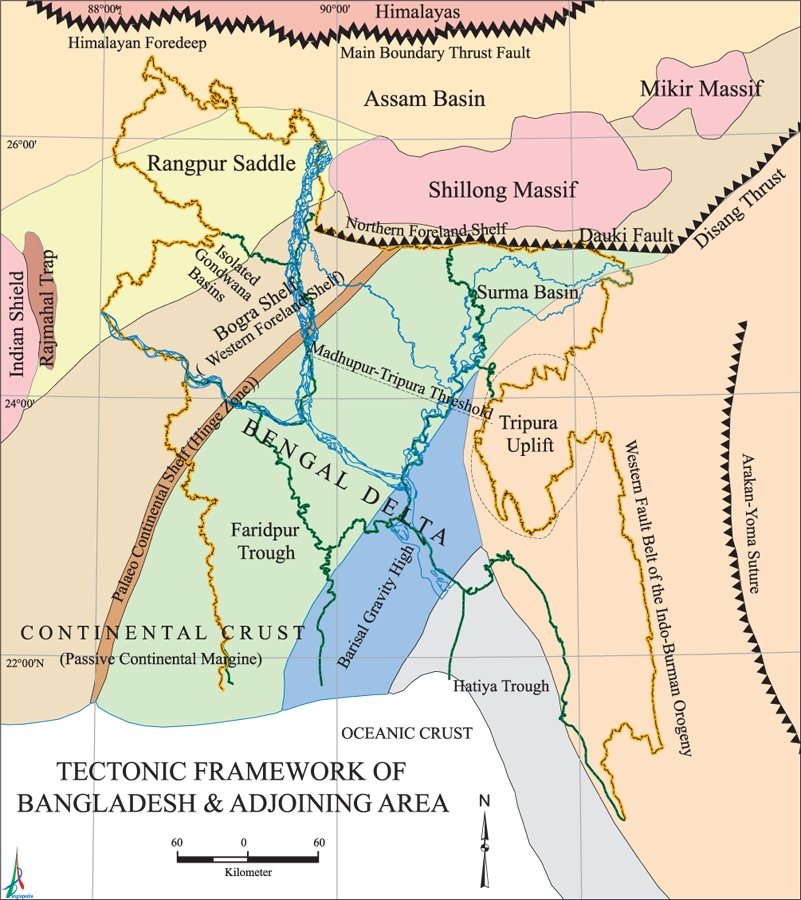 Tectonic Framework Map Bangladesh