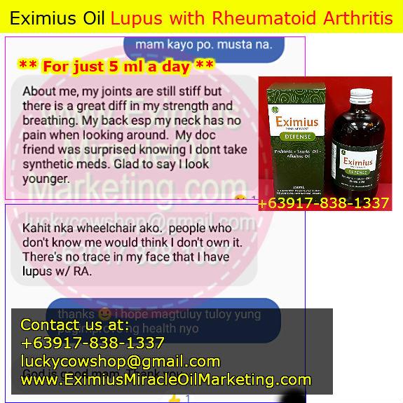 eximius oil lupus rheumatoid arthritis