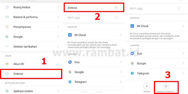 Cara Mengatasi HP Xiaomi Lemot dan Hang - Sinkronisasi