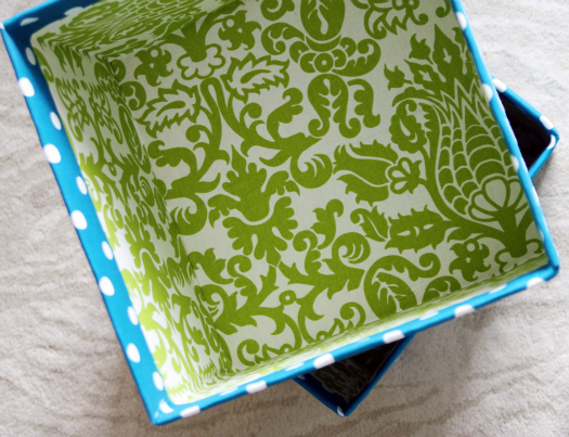 Iheart Organizing Project Pretty Diy Fabric Boxes A Link Party