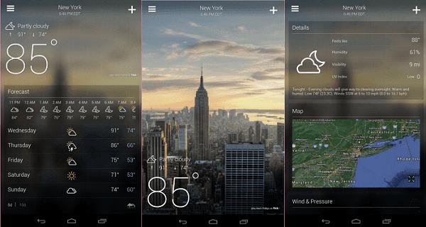 أفضل تطبيقات الطقس والمناخ لهاتف الاندرويد