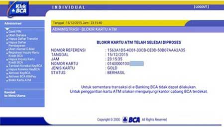 Blokir Kartu ATM BCA Sekarang Makin Mudah