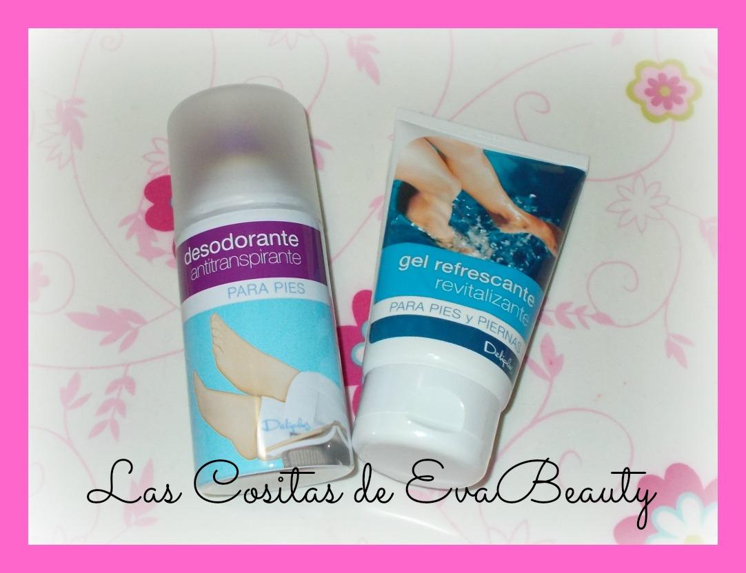 (Desodorante antitranspirante para pies y gel refrescante revitalizante  para pies y piernas de Deliplús por Las Cositas de EvaBeauty) 3843b2c06d35