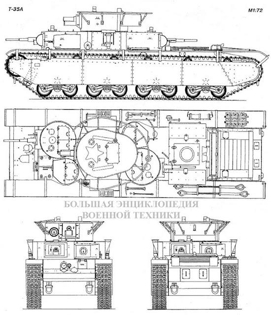 Общий вид танка Т-35А