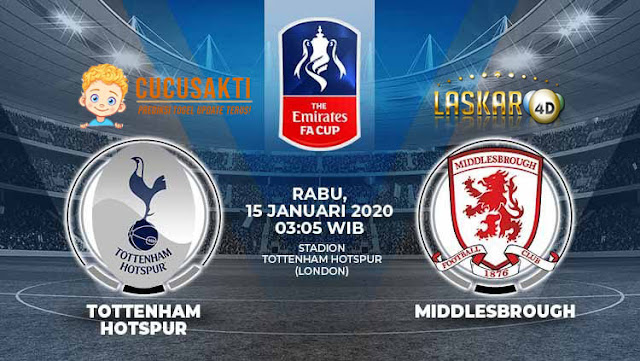Prediksi Pertandingan Tottenham Hotspur vs Middlesbrough 15 Januari 2020