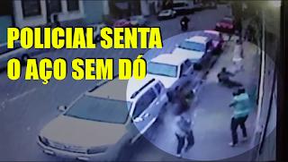 [VÍDEO] POLICIAL CIVIL COM CRIANÇA NO COLO SENTA O AÇO EM MARGINAIS