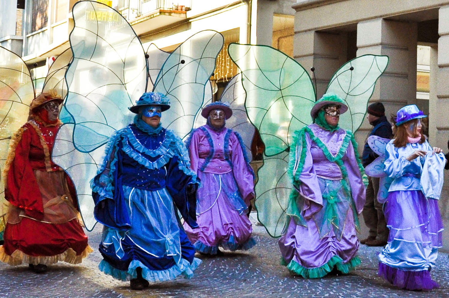 Butterfly ladies at the Carnival in Treviso