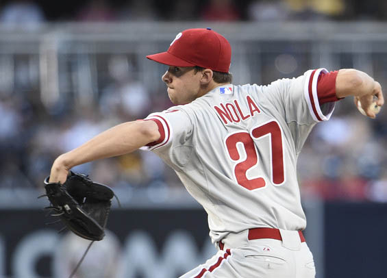 Philadelphia pitcher Aaron Nola helps Phillies to win