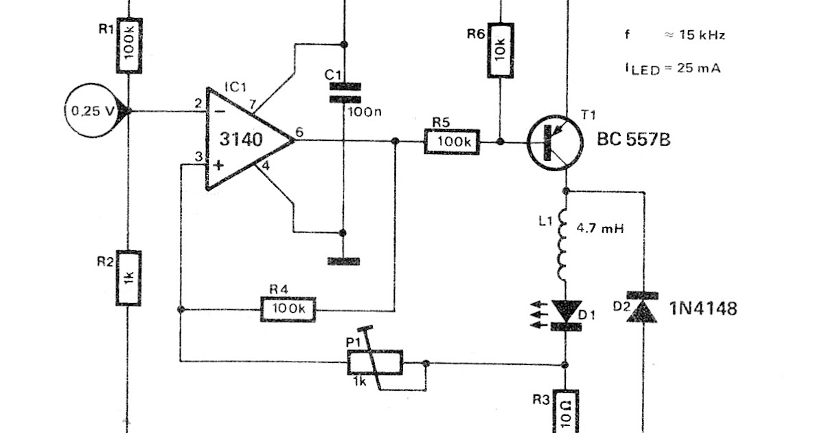Economical Switching LED Driver Circuit ~ Fast Diagrams