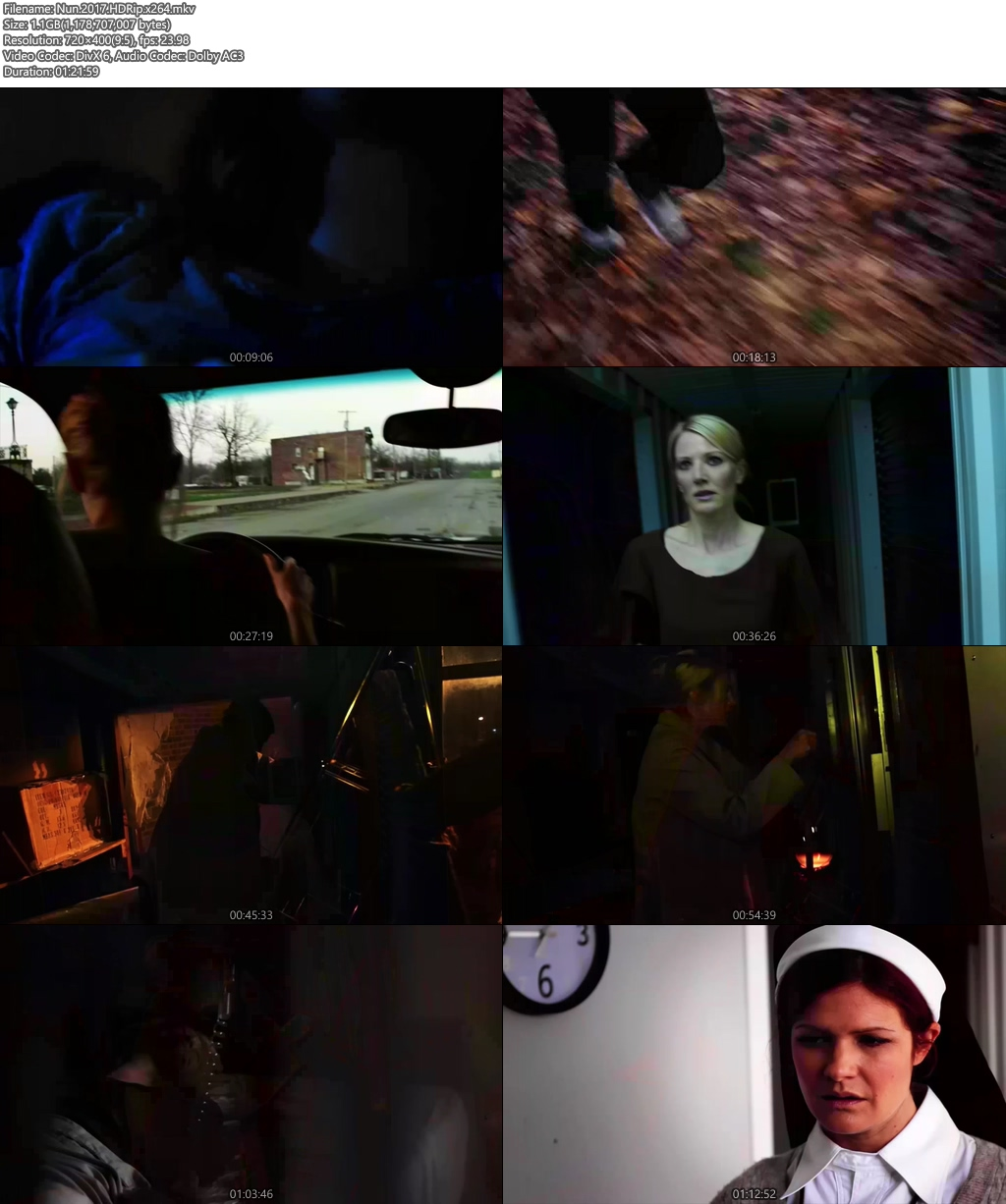Nun 2017 HDRip x264 | 480p 300MB | 100MB HEVC Screenshot