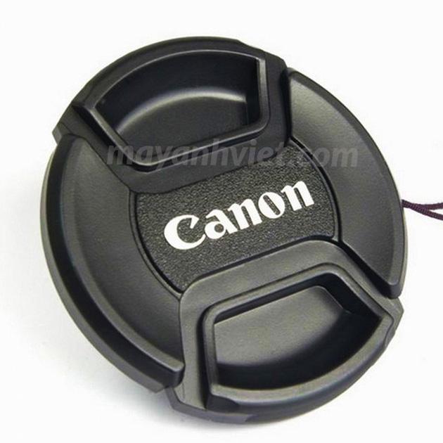 cap trước lens canon bấm trong