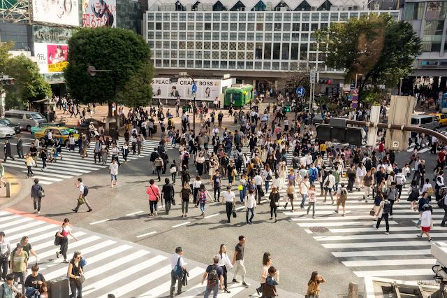cestování po světě, blog, japonsko, tokyo, tokio, shibuya crossing, nejrušnější křižovatka