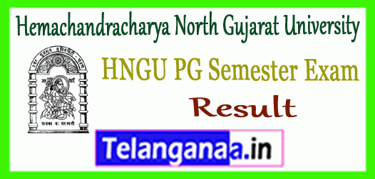 HNGU Hemachandracharya North Gujarat University PG 1st 3rd Semester Result