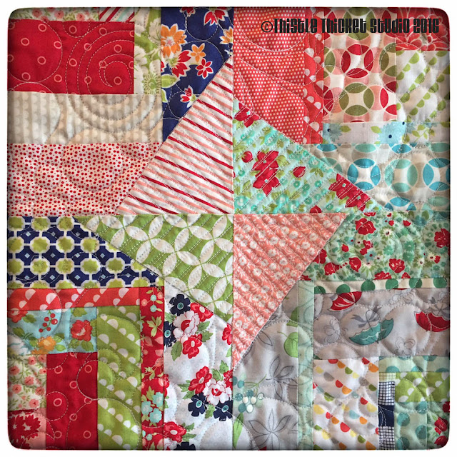 Bonnie & Camille Log Cabin Swap Quilt by Thistle Thicket Studio. www.thistlethicketstudio.com