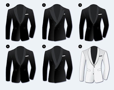 wedding planning - diagram of jackets