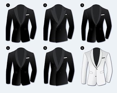 wedding planning - diagram of jackets