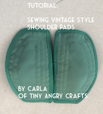 The Vintage Pattern Files: Free 1940s Sewing Tutorial - Shoulder Pads