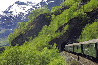 The Flåm Railway, the Sognefjord