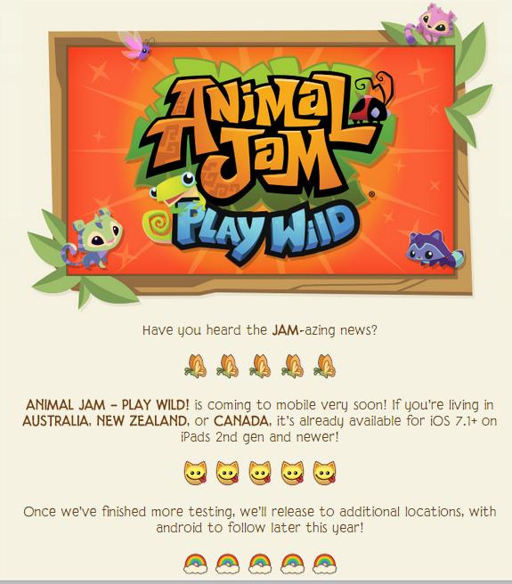 animal jam play wild release date