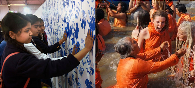 Kumbh Mela Authority attempts another Guinness record with 8000 handprints