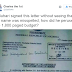 Twitter user calls out President Buhari for signing a letter with his name mispelt