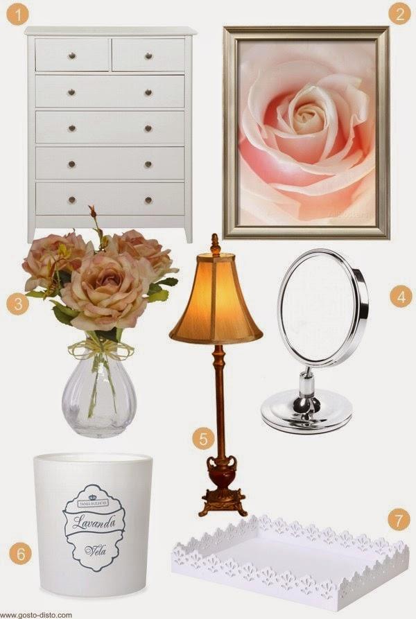 Decoração do quarto - Como decorar uma cômoda