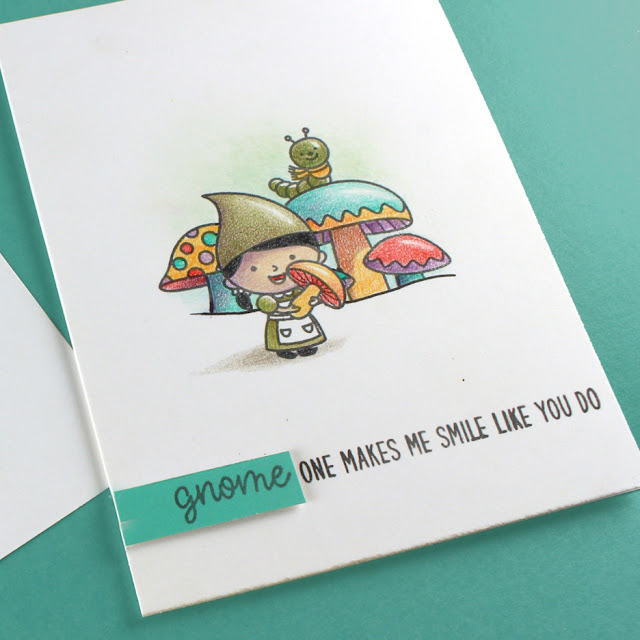 Sunny Studio Stamps: Home Sweet Gnome Customer Card by Sandy Allnock