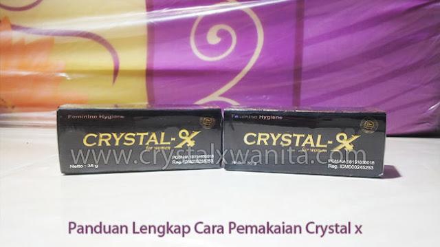 Cara Pemakaian Crystal x