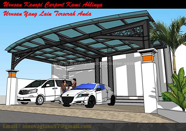 Desain Kanopi Kaca Carport