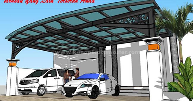 Desain Atap Kaca Pada Kanopi Carport - Pasang Kanopi Kaca ...