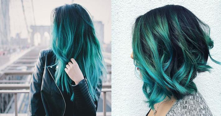 Teal Hair cabelos coloridos verde água