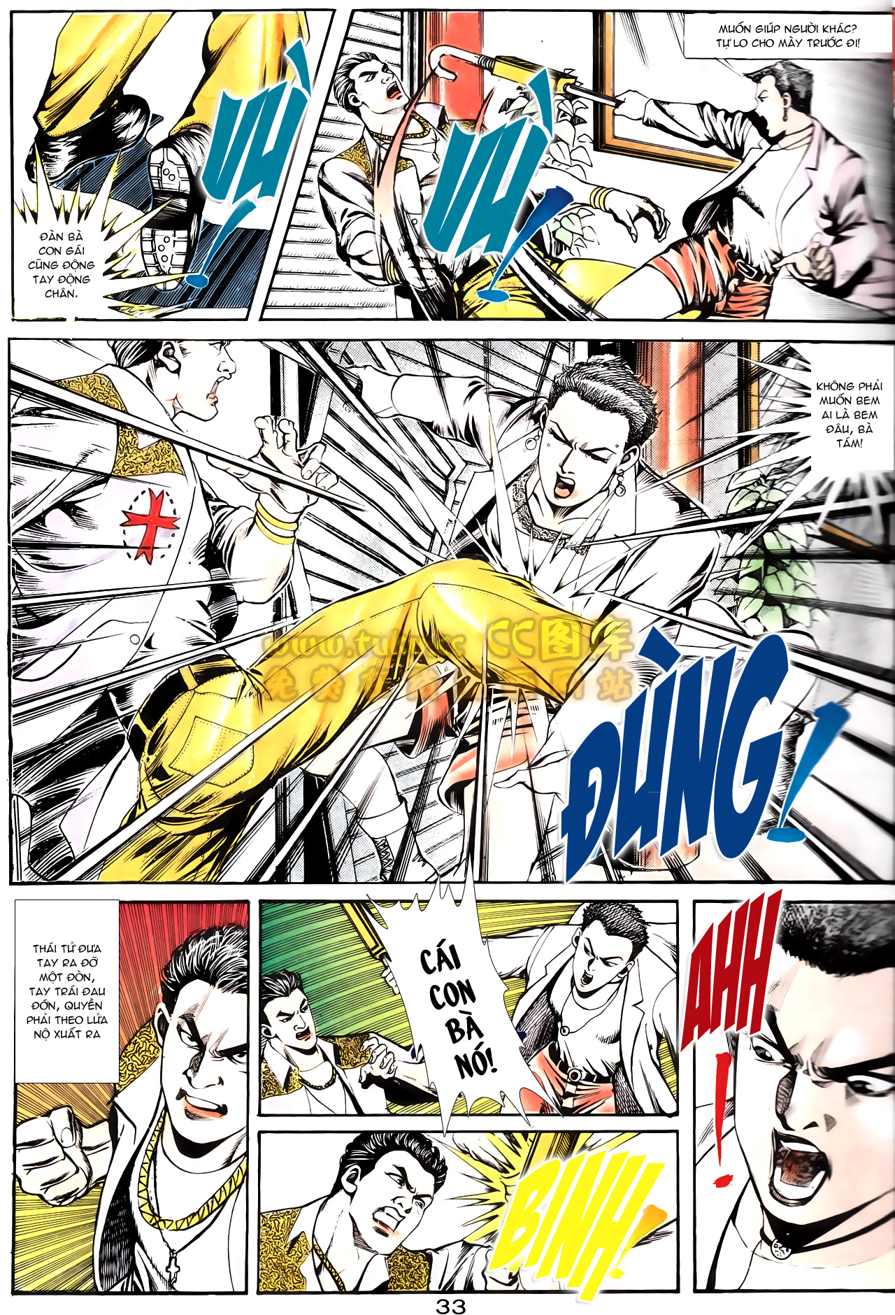 Người Trong Giang Hồ chapter 164: hạo nam chiến quạ đen trang 5